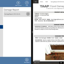 Tablet Demo – Flood Damage