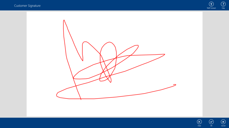 TAAP Tablet Signature Capture